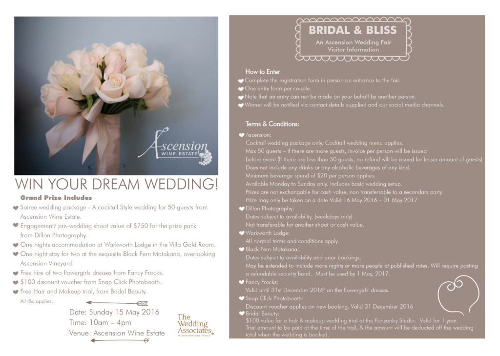 Bridal & Bliss Wedding Fair Flyer