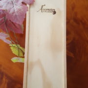 Single bottle wine box engraved with the Ascension Logo.